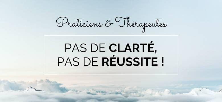 Praticiens/Thérapeutes : Pas de Clarté, Pas de Réussite !
